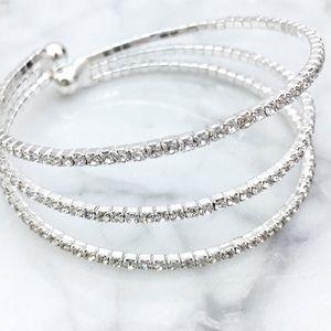 Jewelry - Silver Rhinestone Bracelet